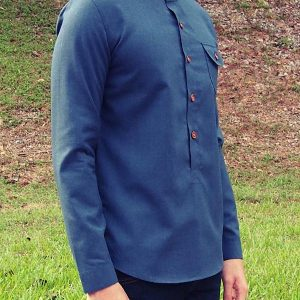 Henley Shirt (Blue)