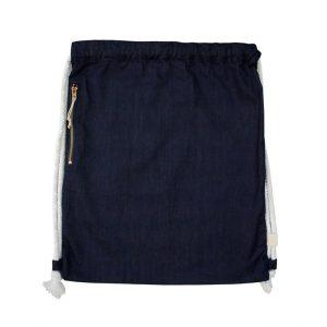 Denim Drawstring Bag (Dark Blue)