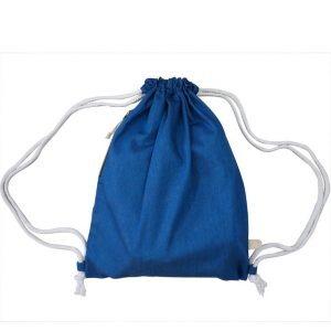 Denim Drawstring Bag (Light Blue)